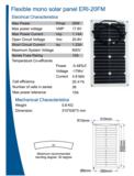 ERI 20FM zonnepaneel informatie